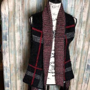 Sweaters - Plaid Open Cardigan